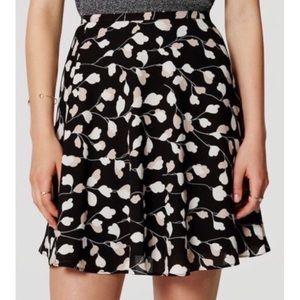 {Loft} Floral Flippy Skirt